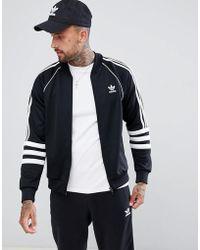 adidas Originals - Authentic Superstar Track Jacket In Black Dj2856 - Lyst
