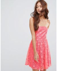 Zibi London | Lace Bandeau Skater Dress | Lyst