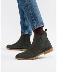 Office - Iberian Chelsea Boots In Grey Suede - Lyst