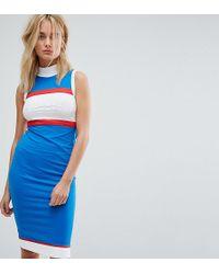 Le Coq Sportif | Exclusive To Asos High Neck Midi Dress | Lyst
