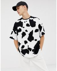 ASOS - Oversized T-shirt With All Over Cow Print - Lyst