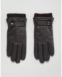 Dents - Henley Leather Touchscreen Gloves - Lyst