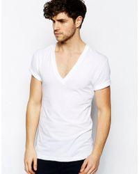 American Apparel - V-neck T-shirt In Sheer Jersey - Lyst