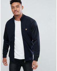 Lyle & Scott - Tricot Jersey Track Jacket In Black - Lyst