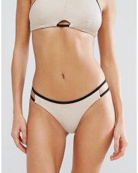 RVCA   Ribbed Cut Out Bikini Bottom   Lyst