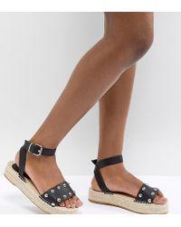 ASOS - Design Jake Studded Espadrille Sandals - Lyst