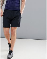 Abercrombie & Fitch Sports Nylon Running Shorts In Black