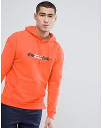 Stradivarius - Hoodie With Some Random Brand Slogan In Orange - Lyst