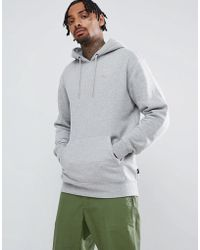 Vans - Small Logo Pullover Hoodie In Grey Vn0a3hq202f1 - Lyst