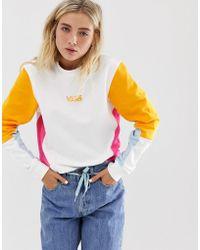 acbd2087fc Vans Rainbow Sweatshirt In White in White - Lyst