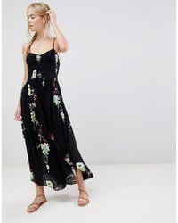 Free People - Beau Printed Midi Dress - Lyst