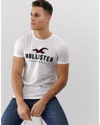 Hollister - Chest Embroidered Box Logo T-shirt In White - Lyst