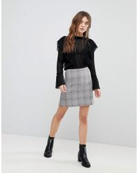 New Look - Checked Mini Skirt - Lyst