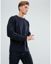Bellfield - Cable Knit Jumper - Lyst