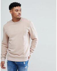Blend - Acid Wash Pink Sweatshirt - Lyst
