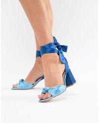 Stradivarius - Wraparound Block Sandals - Lyst