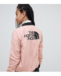 The North Face - Womens Comfy Insulated Bomber In Pink - Lyst