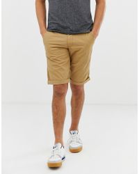 Esprit - Slim Fit Chino Short In Beige - Lyst