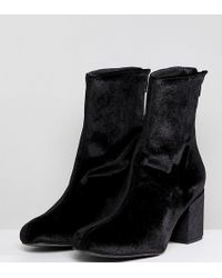 Free People - Cecile Velvet Ankle Boot - Lyst
