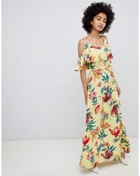 Soaked In Luxury - Overlay Maxi Dress In Tropical Print - Lyst