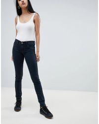 DIESEL - Livier Super Skinny Mid Rise Jean - Lyst