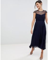 Coast - Cleo Pleated Bridesmaids Dress With Lace Yolk - Lyst