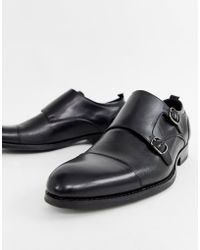 Office - Illusive Monk Shoes In Black Leather - Lyst