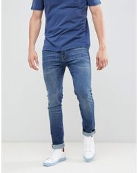 SELECTED - Slim Fit Mid Blue Jeans - Lyst