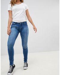 Hilfiger Denim - Mid Rise Skinny Jeans - Lyst