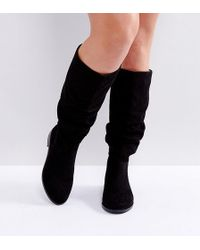 ASOS - Asos Capital Wide Fit Slouch Knee Boots - Lyst