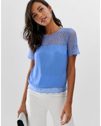 dcf925983ffc Lipsy - Lace Top In Cornflower Blue - Lyst