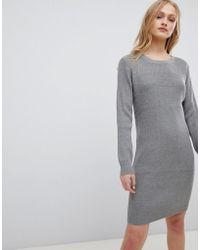 Blend She - Mila Fine Rib Knit Dress - Lyst