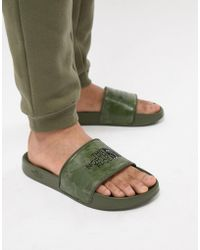 The North Face - Base Camp Sliders Ii In Tropical Camo/green - Lyst