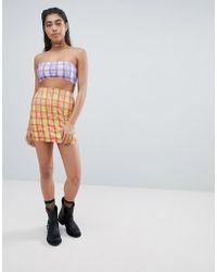 Jaded London - Diamante Check Bodycon Skirt Co-ord - Lyst