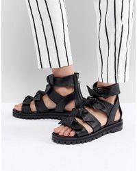 AllSaints - Knot Detail Sandal - Lyst