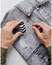 ASOS | Pin Badge In Military Design | Lyst