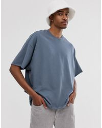 d19d01130886 ASOS - Organic Heavyweight Oversized Fit T-shirt With Crew Neck And Raw  Edges In