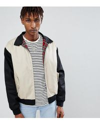Reclaimed (vintage) - Inspired Cut And Sew Harrington Jacket - Lyst