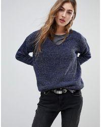 Blend She - Marlene Metallic Yarn Knit Jumper - Lyst