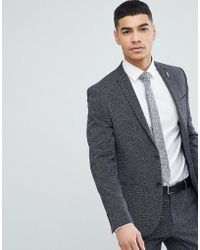 River Island - Suit Jacket In Navy - Lyst