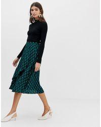 Y.A.S - Geo Printed Midi Skirt - Lyst