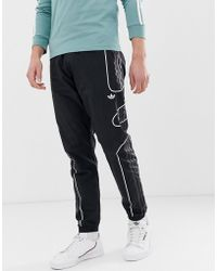 9950ef9dd661 adidas Originals Trefoil Tracksuit Bottoms In Black in Black for Men ...