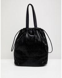 Pieces - Drawstring Bag - Lyst