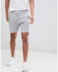 Bershka - Jersey Shorts In Gray - Lyst