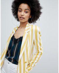 Bershka - Bold Blazer In Multi Stripe - Lyst