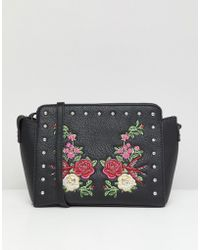 Park Lane - Embroidered Floral Crossbody Bag - Lyst