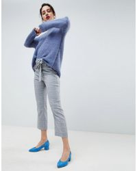 Gestuz - Check Paperbag Trousers - Lyst