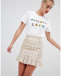 Daisy Street - Tailored Skirt In Vintage Check - Lyst