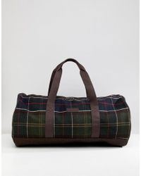 Barbour - Hardwick Classic Tartan Holdall In Green - Lyst