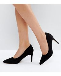 Truffle Collection - Wide Fit Pop Heel Court Shoe - Lyst